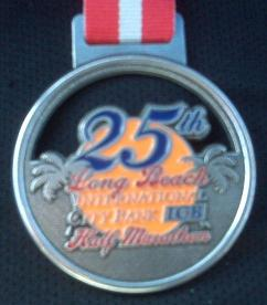 2009 Long Beach Half Marathon Medal
